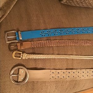 "Bundle deal 4 Ladies medium belts size 37"" to 43"""